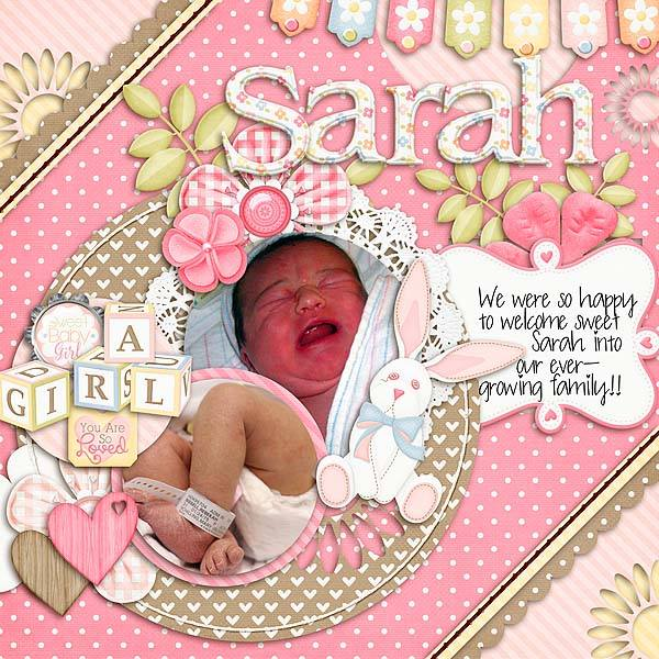 Gingerscraps Kits Sweet Baby Girl Digital