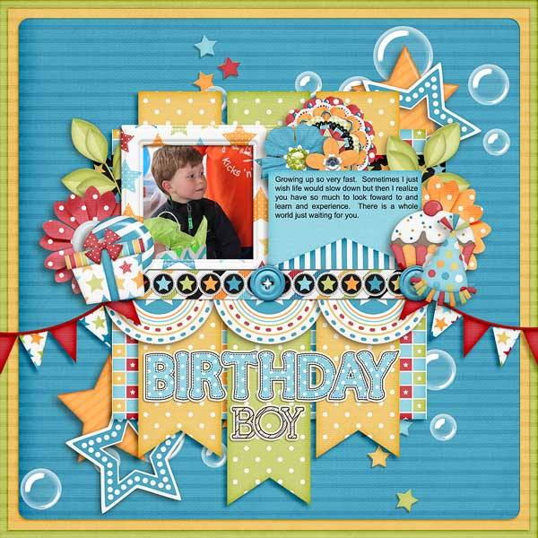 Gingerscraps Kits Birthday Wishes Boy Digital