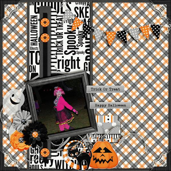 spooky halloween digital scrapbooking kit - Spooky Halloween Store