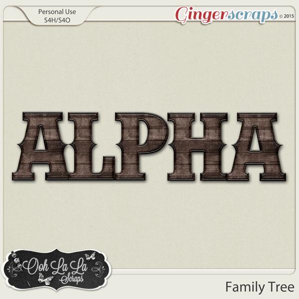 gingerscraps    kits    family tree digital scrapbook kit