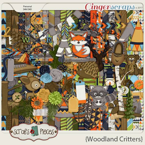 Woodland Critters by Scraps N Pieces