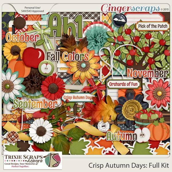 Crisp Autumn Days Full Kit by Trixie Scraps Designs