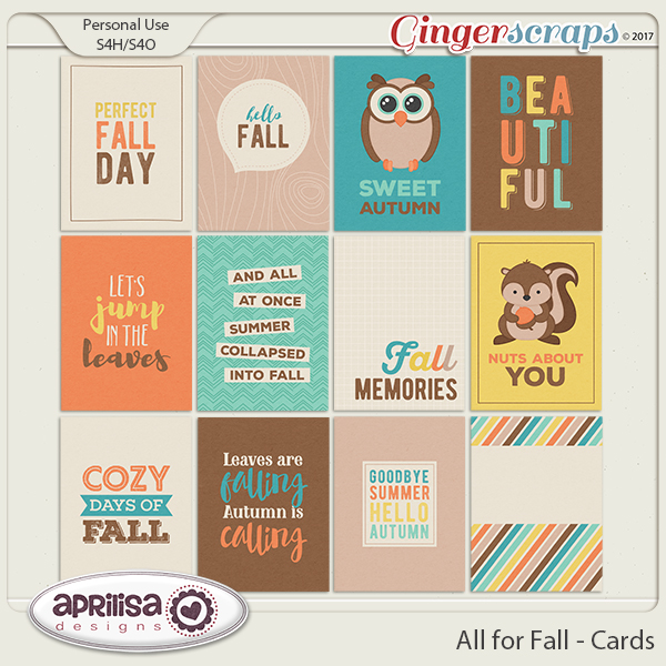 All For Fall - Cards
