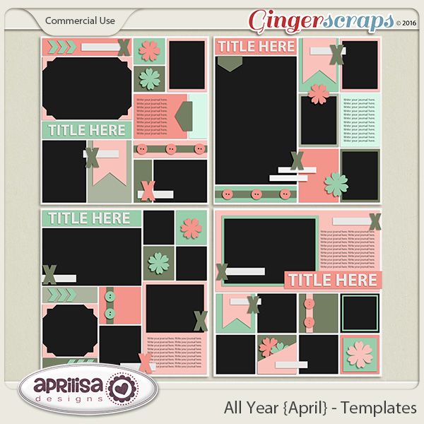 All Year {April} - Template Pack