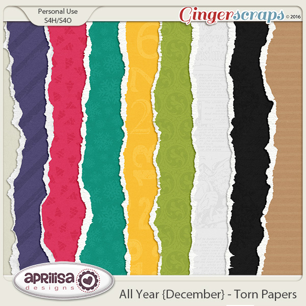 All Year {December} - Torn Papers