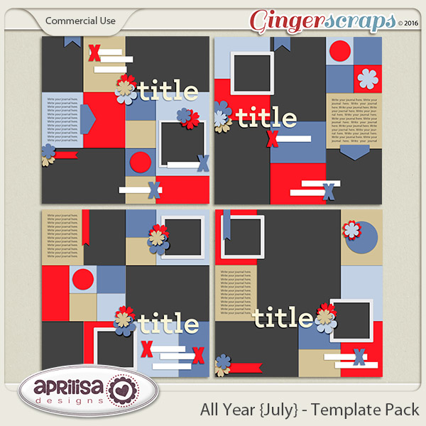All Year {July} - Template Pack