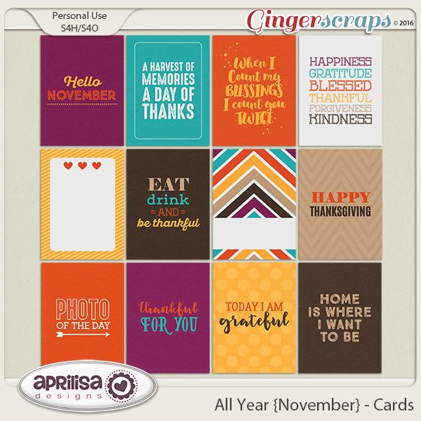 All Year {November} - Cards