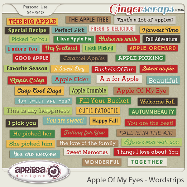 Apple Of My Eye - Wordstrips