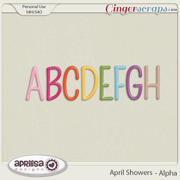 April Showers - Alpha by Aprilisa Designs