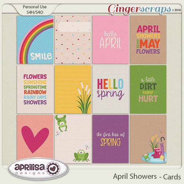 April Showers - Cards by Aprilisa Designs