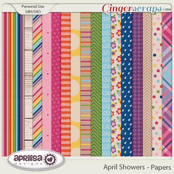 April Showers - Papers by Aprilisa Designs