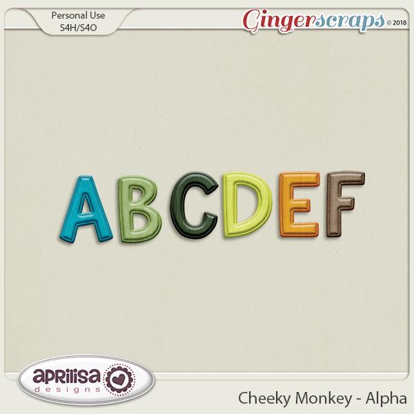 Cheeky Monkey - Alpha by Aprilisa Designs