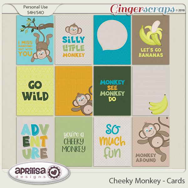 Cheeky Monkey - Cards by Aprilisa Designs