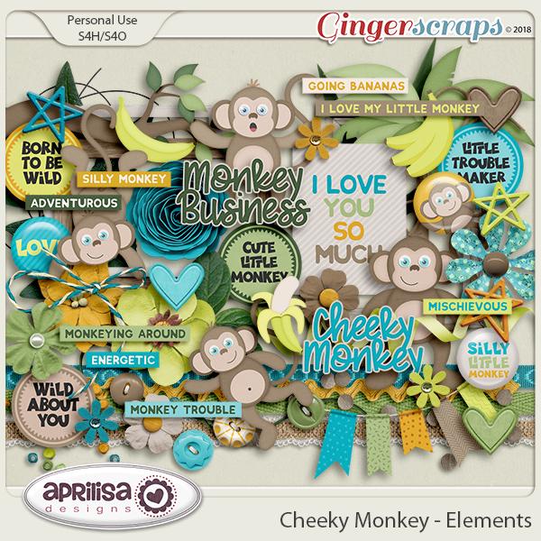 Cheeky Monkey - Elements by Aprilisa Designs