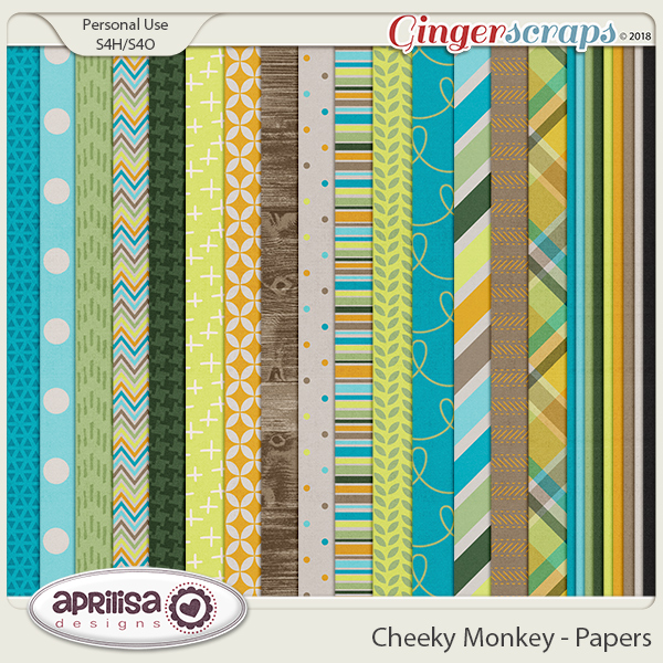 Cheeky Monkey - Papers by Aprilisa Designs