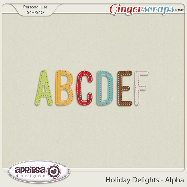Holiday Delights - Alpha by Aprilisa Designs