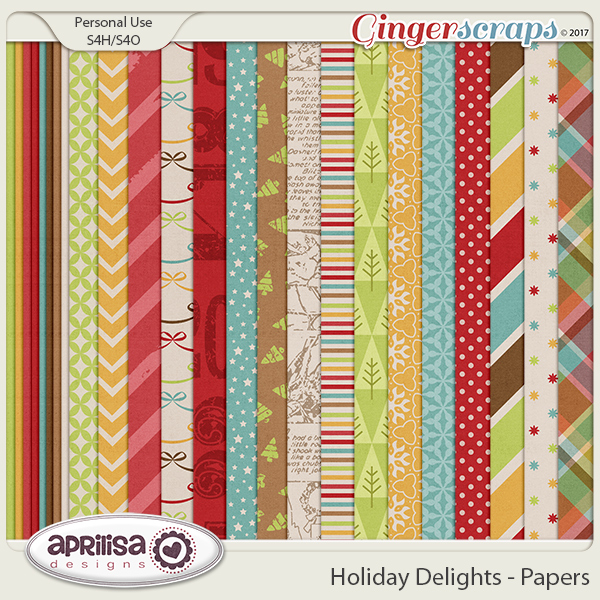 Holiday Delights - Papers by Aprilisa Designs