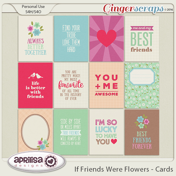 If Friends were Flowers - Cards