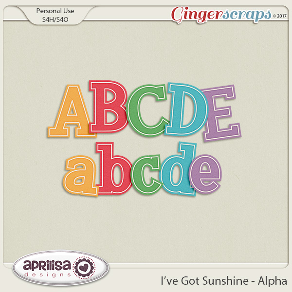 I've Got Sunshine - Alpha by Aprilisa Designs