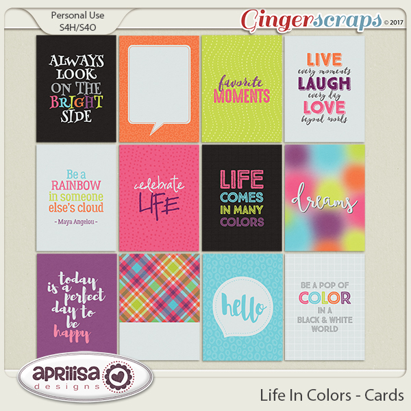 Life In Colors - Cards by Aprilisa Designs