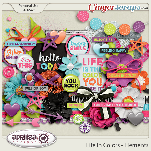 Life In Colors - Elements by Aprilisa Designs