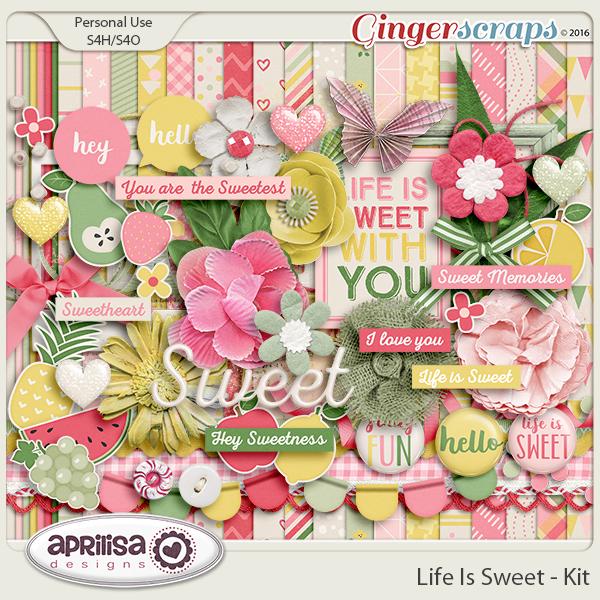 Life Is Sweet - Kit by Aprilisa Designs