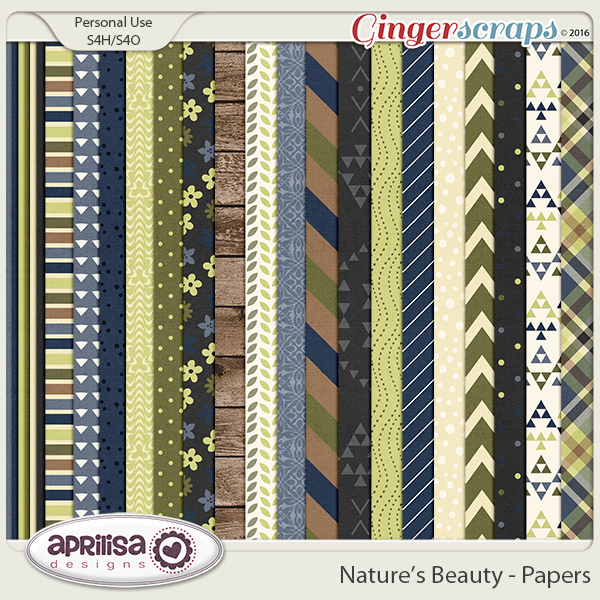 Nature's Beauty - Papers by Aprilisa Designs
