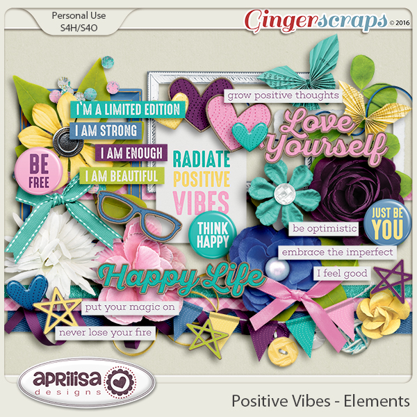 Positive Vibes - Elements by Aprilisa Designs