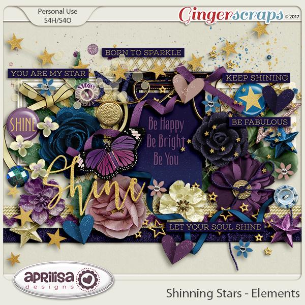 Shining Stars - Elements by Aprilisa Designs