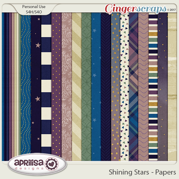Shining Stars - Papers by Aprilisa Designs
