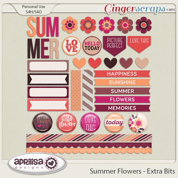Summer Flowers - Extra Bits by Aprilisa Designs