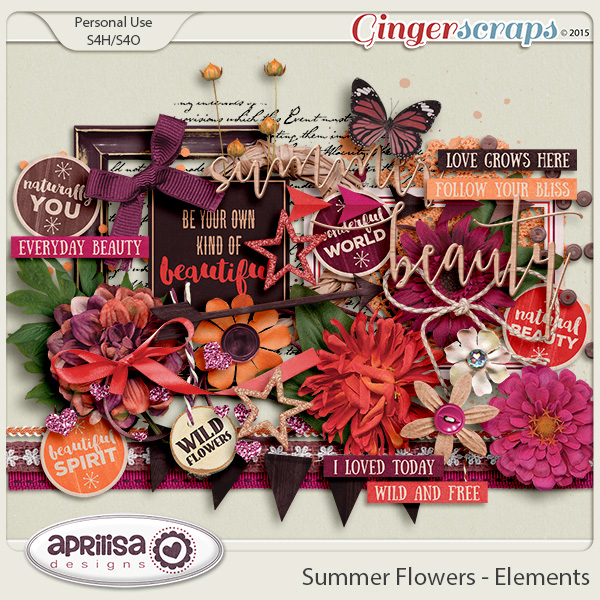 Summer Flowers - Elements by Aprilisa Designs