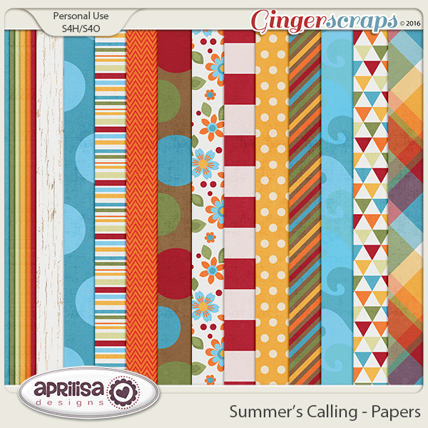 Summer's Calling - Papers by Aprilisa Designs