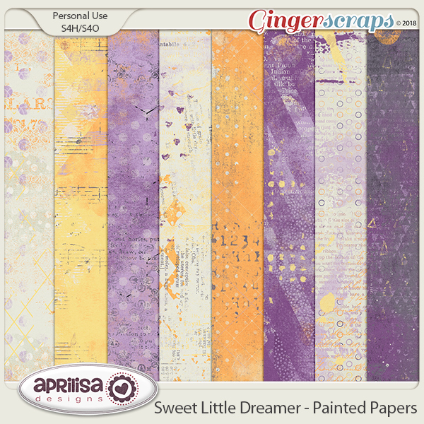 Sweet Little Dreamer - Painted Papers by Aprilisa Designs