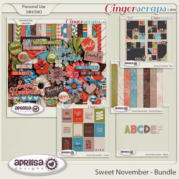 Sweet November - Bundle by Aprilisa Designs