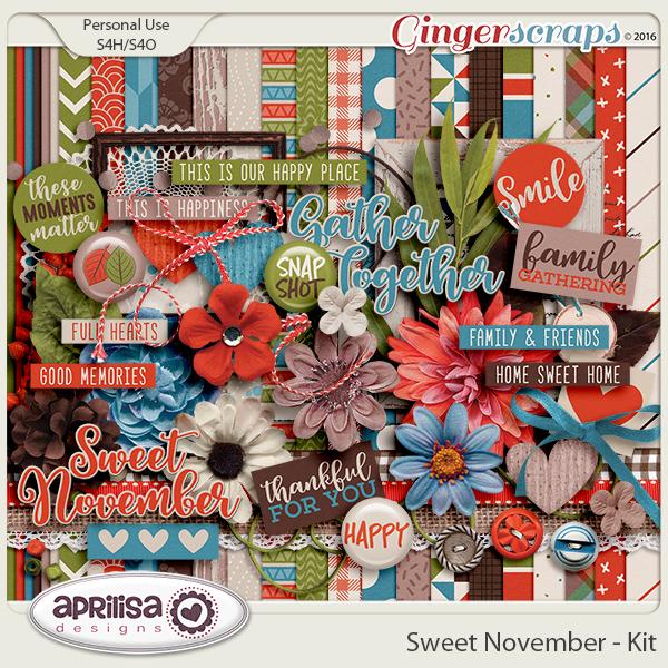 Sweet November - Kit by Aprilisa Designs