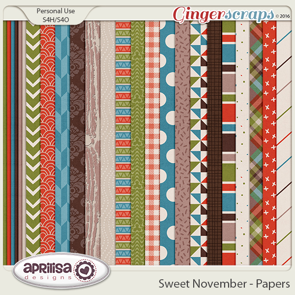 Sweet November - Papers by Aprilisa Designs