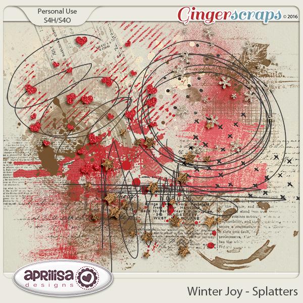 Winter Joy - Splatters by Aprilisa Designs.