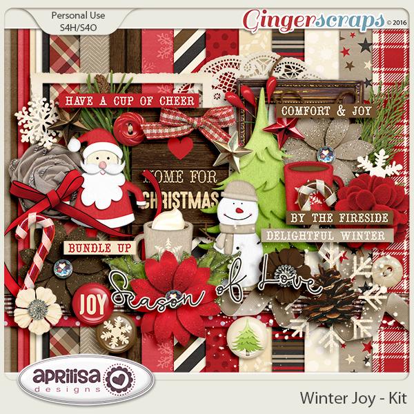Winter Joy - Kit by Aprilisa Designs.