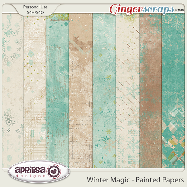 Winter Magic - Painted Papers
