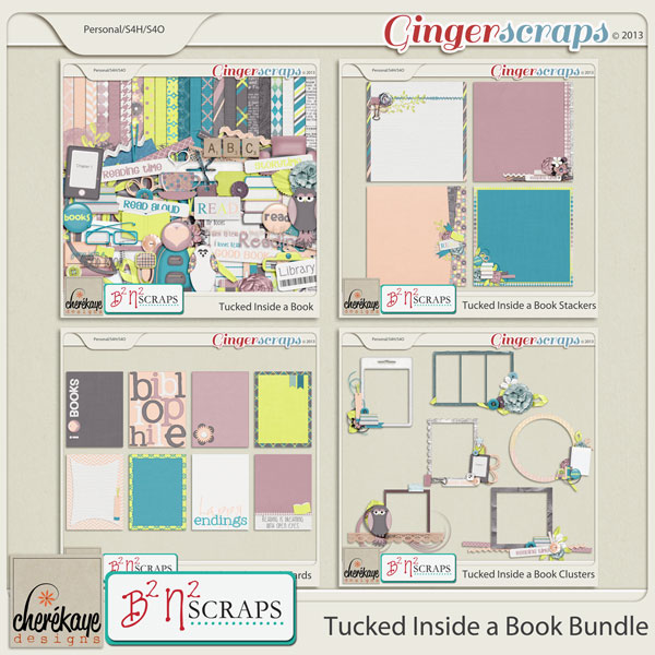 Tucked Inside a Book Bundle by B2N2Scraps and Chere Kaye