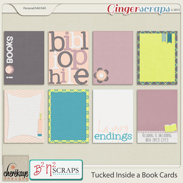 Tucked Inside a Book Life Cards by B2N2Scraps and Chere Kaye