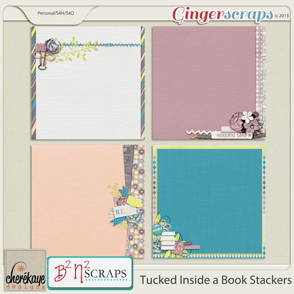 Tucked Inside a Book Stackers by B2N2Scraps and Chere Kaye