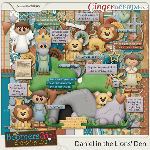 Daniel in the Lions' Den by BoomersGirl Designs