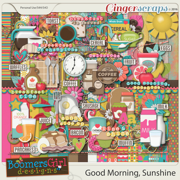 Good Morning Sunshine Letter : Gingerscraps kits good morning sunshine by