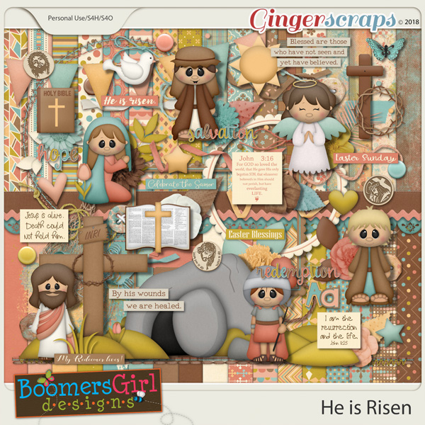 He is Risen by BoomersGirl Designs