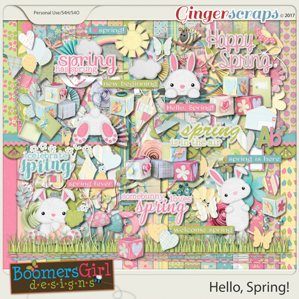 Hello, Spring! by BoomersGirl Designs