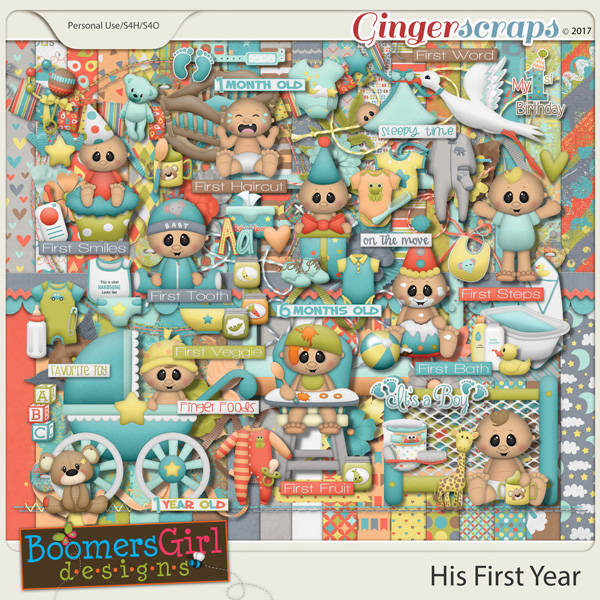 His First Year by BoomersGirl Designs