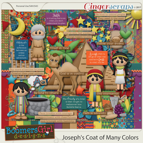 Joseph's Coat of Many Colors by BoomersGirl Designs