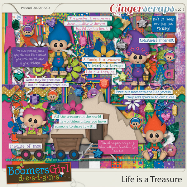 Life is a Treasure by BoomersGirl Designs